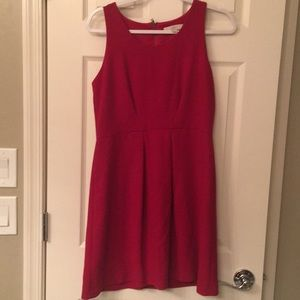 Loft red a line dress